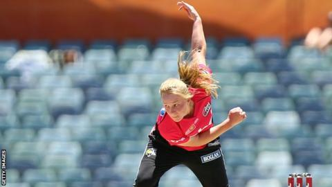 Garth took a key wicket for Sydney Sixers as they beat Perth Scorchers to win the Women's Big Bash