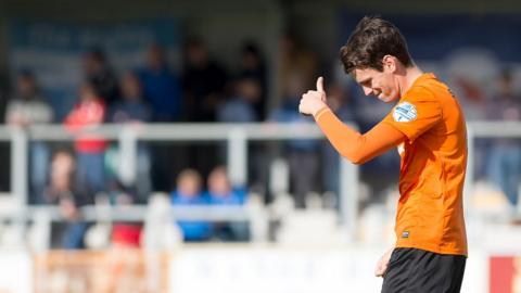 Mark Surgenor was on target for Carrick Rangers against Ballinamallard in the Premiership clash at Ferney Park
