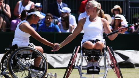 Jordanne Whiley and partner Yui Kamiji