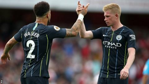 Kyle Walke and Kevin de Bruyne celebrate