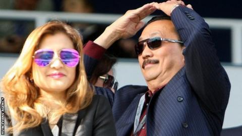 Vincent Tan watches Cardiff City at QPR