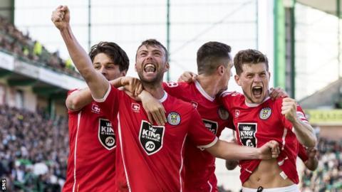 Rory Loy celebrates scoring