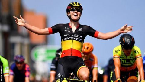 Belgian rider Jolien D'Hoore