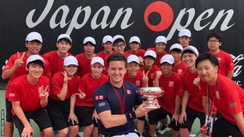 Gordon Reid after winning the Japan Open