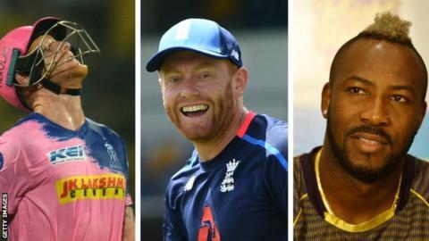 Ben Stokes, Jonny Bairstow, Andre Russell