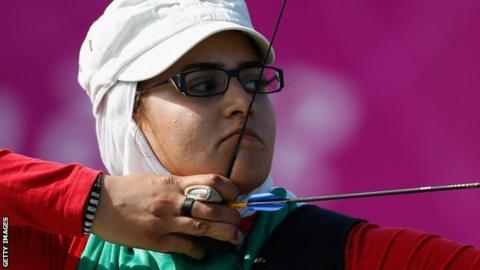 Iranian archer Zahra Nemati