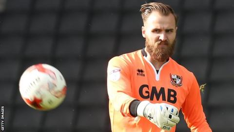 Jak Alnwick in action for Port Vale