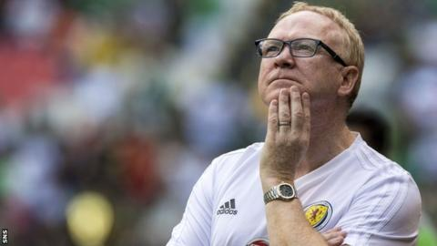 Alex McLeish sees positives as Scotland lose to Mexico in friendly