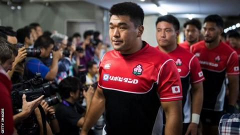 Japan's prop Koo Ji-won