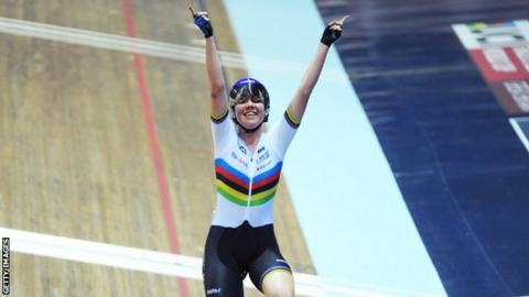 Katie Archibald wins the World Cup omnium in Manchester