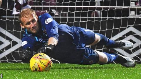Zdenek Zlamal's shoot-out save from Nicky Clark proved decisive
