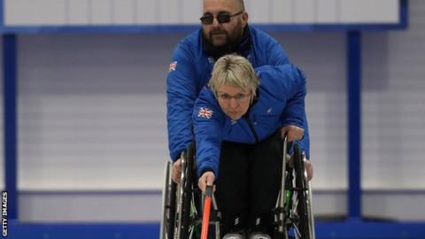 Wheelchair curler Angie Malone