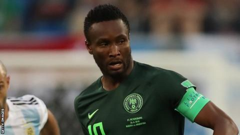 online store 3ce69 8b471 Mikel named in Nigeria's provisional Afcon 2019 squad - BBC ...