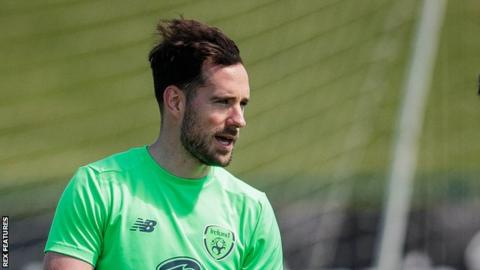 Greg Cunningham trains with Republic of Ireland