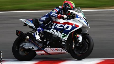 Michael Laverty moved up three places in the British Superbike Championship series at Thruxton