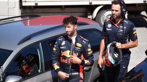 Red Bull driver Daniel Ricciardo in action at the Hungarian Grand Prix