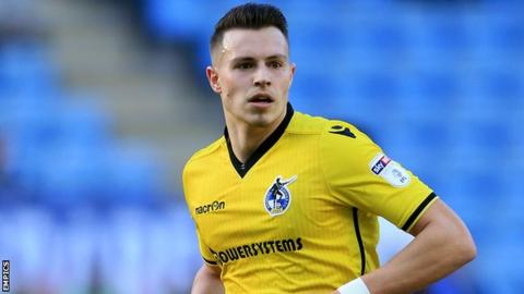 Bristol Rovers striker Billy Bodin looks on during their game at Coventry in March 2017