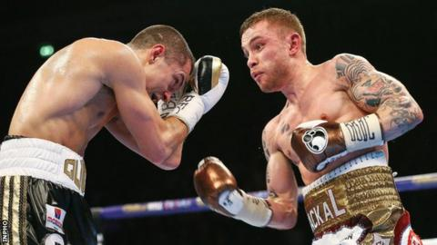 Carl Frampton was deemed the winner on two of the three judges' scorecards