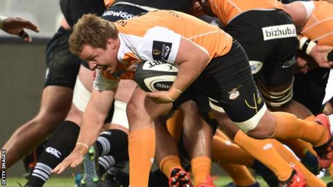 Torsten van Jaarsveld in action for Cheetahs