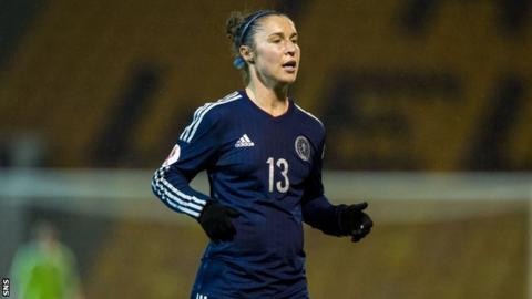 Jane Ross equalised for Scotland after 21 minutes but the Danes re-established their lead 10 minutes later
