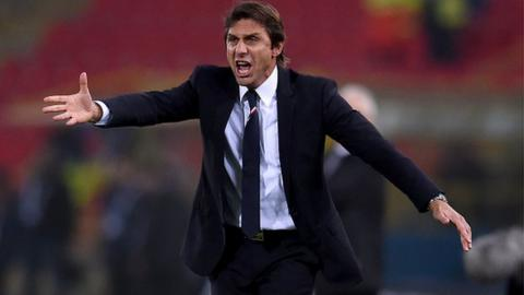Antonio Conte led Juventus to three successive Serie A titles as manager