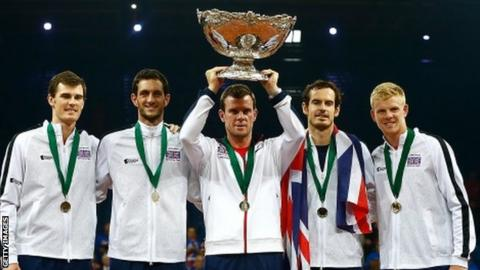 Great Britain's Davis Cup team in 2015