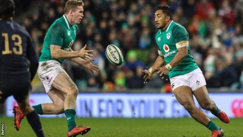 Chris Farrell and Bundee Aki formed Ireland's centre partnership during the Novemeber series win against Argentina