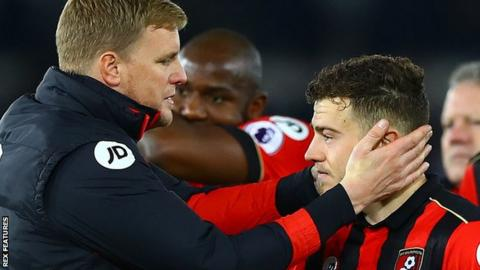 Eddie Howe and Ryan Fraser