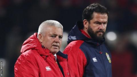 British and Irish Lions coach Warren gatland (left) and assistant Andy Farrell
