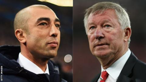 Roberto Di Matteo and Sir Alex Ferguson