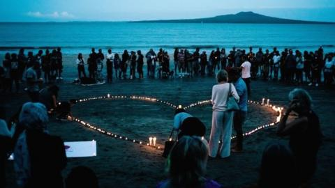 Vigils have taken place in New Zealand following the death of 49 people on Friday