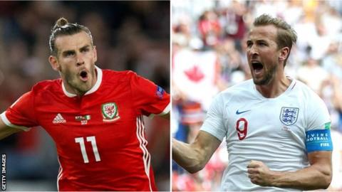 Wales international Gareth Bale (left) and England forward Harry Kane