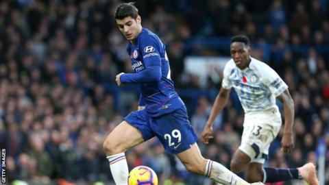 Alvaro Morata joins Atletico Madrid from Chelsea on loan