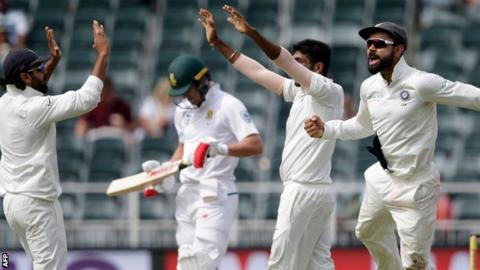 India celebrate in Johannesburg