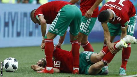 Morocco winger Nordin Amrabat during the World Cup