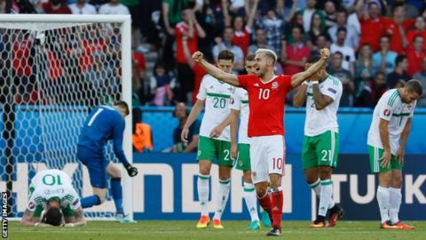 Northern Ireland players dejected