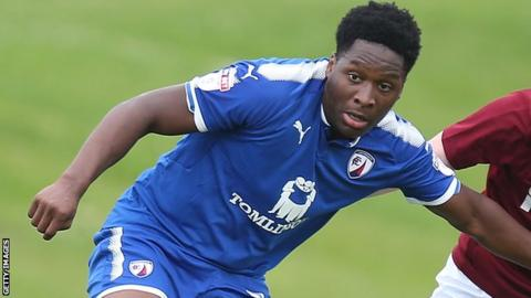 Ricky German in action for Chesterfield