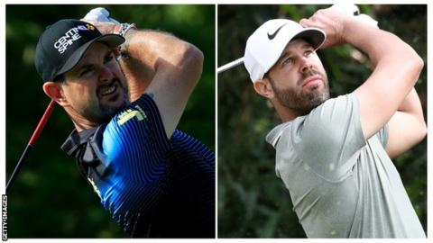 Rory Sabbatini (left) and Kevin Tway
