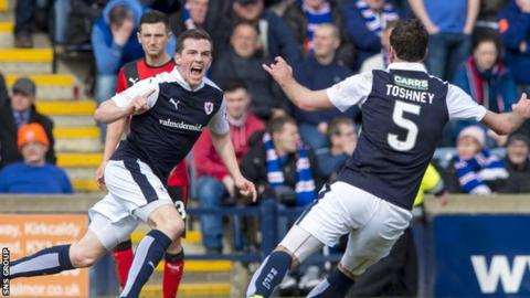 Raith Rovers held champions Rangers to a 3-3 draw at Stark's Park earlier this month