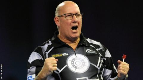 PDC World Darts Championship: Northern Ireland's Kevin Burness has chance to set up Michael van Gerwen match