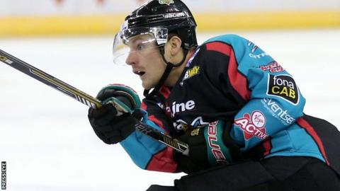 Chris Higgins netted the opener for the Belfast Giants in Sunday's game against the Storm