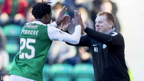 Efe Ambrose and Neil Lennon