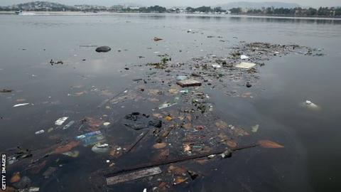 Pollution at Guanabara Bay