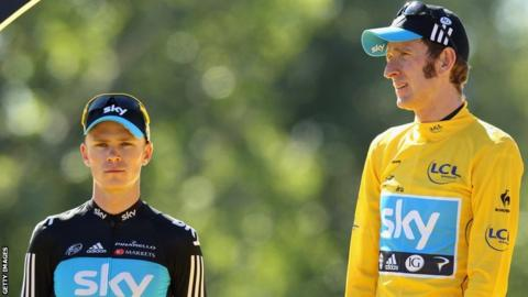 Chris Froome and Bradley Wiggins