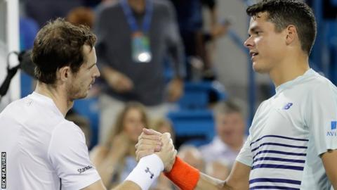 Milos Raonic and Andy Murray