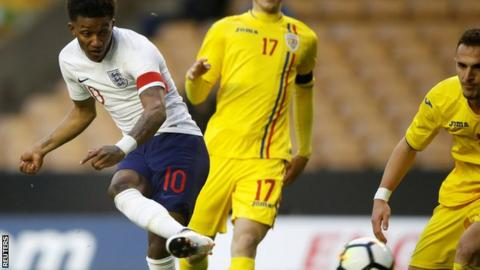 England Under 21s win friendly against Romania