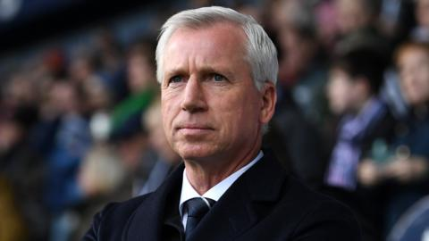 West Brom manager Alan Pardew looks on during defeat by Southampton