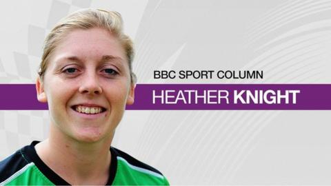 England cricket captain Heather Knight