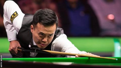 Marco Fu plays a shot at the recent UK Championship