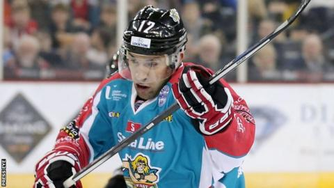 Steve Saviano's two goals helped the Belfast Giants maintain their title challenge